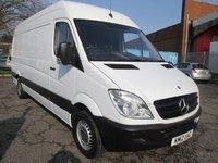 2012 MERCEDES-BENZ SPRINTER 313 CDi LWB High roof 4 metre load length *ONLY 53000 MILES* £SOLD