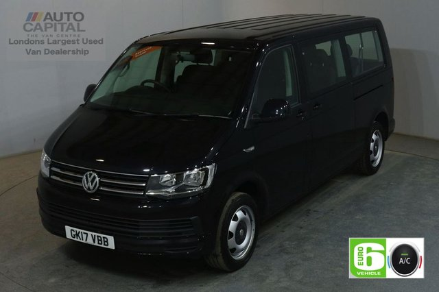2017 17 VOLKSWAGEN TRANSPORTER SHUTTLE 2.0 T32 TDI SHUTTLE SE BMT AUTO 148 BHP LWB EURO 6 9 SEATER MINIBUS AIR CONDITIONING EURO 6