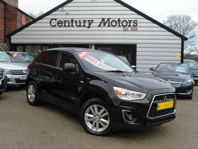 2014 14 MITSUBISHI ASX 1.8 TD 4 AWD 5d 4X4 WHEEL DRIVE + FULL LEATHER