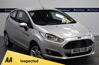 USED 2014 14 FORD FIESTA 1.2 ZETEC 3d 80 BHP (12 MONTHS PARTS AND LABOUR WARRANTY INCLUDED)