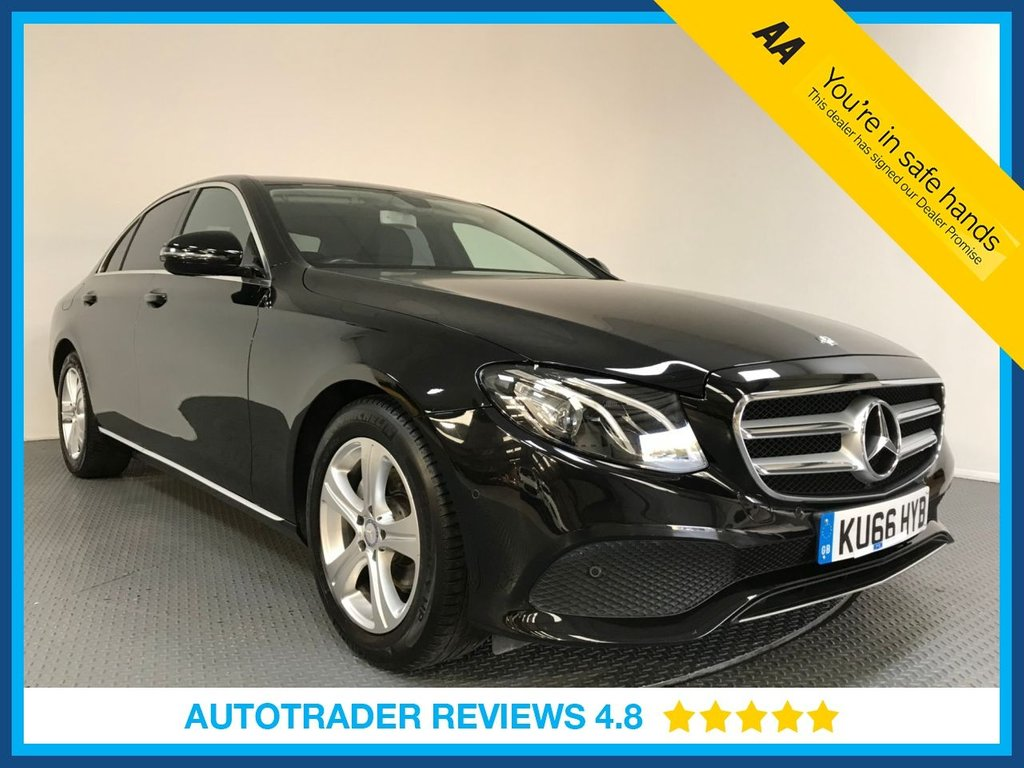USED 2016 66 MERCEDES-BENZ E-CLASS 2.0 E 220 D SE 4d AUTO 192 BHP 1 OWNER - EURO 6 - SAT NAV - LEATHER - CAMERA - PARKING SENSORS - AIR CON - BLUETOOTH