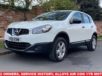 USED 2011 11 NISSAN QASHQAI 1.6 VISIA 5d 117 BHP 2 OWNERS, SERVICE HISTORY, 1YR MOT, FULLY PREPARED, FULL SERVICE 04/04/2019 EXCELLENT CONDITION, ALLOYS, AIR CON, BLUETOOTH, FOGS, RADIO CD, E/WINDOWS, R/LOCKING, FREE WARRANTY, FINANCE AVAILABLE, HPI CLEAR, PART EXCHANGE WELCOME,