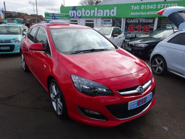 USED 2014 14 VAUXHALL ASTRA 2.0 SRI CDTI S/S 5d 163 BHP £0 DEPOSIT FINANCE DEAL AVAILABLE....CALL TODAY ON 01543 877320