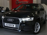 USED 2016 16 AUDI Q3 2.0 TDI SE 5d 150 S/S £30 ROAD TAX (117 G/KM), REAR PARKING SENSORS, DAB RADIO, BLUETOOTH PHONE & MUSIC STREAMING, AUDI DRIVE SELECT, 17 INCH 5 ARM ALLOYS, LED XENON LIGHTS, HEADLAMP WASHERS, ROOF RAILS, GREY CLOTH INTERIOR, SPORT SEATS WITH ELECTRIC LUMBAR SUPPORT, LEATHER MULTIFUNCTION STEERING WHEEL, AUTO LIGHTS & WIPERS, AUDI MUSIC INTERFACE, DUAL CLIMATE AIR CON, 1 OWNER FROM NEW, SERVICE HISTORY, VAT Q