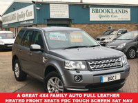 USED 2013 13 LAND ROVER FREELANDER 2.2 SD4 XS ORKNEY GREY MET BLACK LEATHER 67805 MILES 190 BHP A Great 4x4 Family AUTO Leather Heated Front Seats PDC SAT NAV