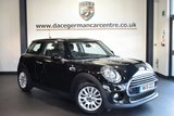 """USED 2015 15 MINI HATCH COOPER 1.5 COOPER 3DR 134 BHP [CHILI/MEDIA PACK XL] full service history *NO ADMIN FEES* FINISHED IN STUNNING MIDNIGHT METALLIC BLACK WITH HALF LEATHER INTERIOR + FULL SERVICE HISTORY + PRO SATELLITE NAVIGATION + CRUISE CONTROL + SPORT SEATS + LIGHT PACKAGE + DAB RADIO + 16"""" ALLOY WHEELS"""