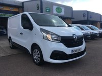 USED 2016 16 RENAULT TRAFIC 1.6 SL27 BUSINESS PLUS DCI L1 H1 115 BHP A/C, P/SENSORS, BLUETOOTH, E/W, FINANCE ARRANGED & RENAULT WARRANTY. Remaining Renault warranty until 2020, Renault Service History, 55,000 Miles, A/C, E/W, Bluetooth, media connectivity, DAB Radio, rear parking sensors, Drivers airbag, Factory fitted bulk head, Side loading door, Very Good Condition, 1 Owner, remote Central Locking, Drivers Airbag, CD Player/FM Radio, Steering Column Radio Control, Side Loading Door, Barn Rear Doors, spare key & finance arranged on site