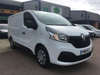 USED 2016 16 RENAULT TRAFIC 1.6 SL27 BUSINESS PLUS DCI L1 H1 115 BHP FSH, A/C, B/TOOTH, P/SENSORS, 6 MONTHS WARRANTY & FINANCE ARRANGED. Remaining Renault warranty until 2020, Full Renault Service History, 57,000 Miles, A/C, E/W, Bluetooth, media connectivity, DAB Radio, rear parking sensors, Drivers airbag, Factory fitted bulk head, Side loading door, Very Good Condition, 1 Owner, remote Central Locking, Drivers Airbag, CD Player/FM Radio, Steering Column Radio Control, Side Loading Door, Barn Rear Doors, spare key & finance arranged on site