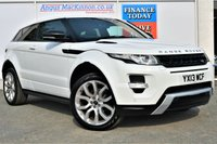 USED 2013 13 LAND ROVER RANGE ROVER EVOQUE 2.2 SD4 DYNAMIC 4x4 Rare 3dr Sports SUV AUTO Stunning in White with Black Pack and Massive High Spec inc Heated Leather Seats Sat Nav Panoramic Glass Roof DAB Radio PREVIOUSLY LOCALLY OWNED