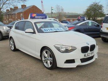 2012 BMW 1 SERIES 2.0 118D M SPORT 5d 141 BHP * ALPINE WHITE STUNNING*