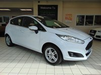 USED 2013 63 FORD FIESTA 1.0 ZETEC 5d 79 BHP FULL MOT + SERVICE HISTORY + BLUETOOTH + AIR CONDITIONING + ALLOYS + CD RADIO + REMOTE LOCKING + HEATED FRONT SCREEN + ELECTRIC WINDOWS + 60/40 REAR SEAT SPLIT