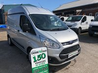 2015 FORD TRANSIT CUSTOM 2.2 310 TREND LR 125 BHP 1 OWNER FROM NEW AIR CON & CRUISE CONTROL FSH £8995.00