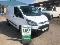 2014 FORD TRANSIT CUSTOM 2.2 270 100BHP 1 OWNER FORM NEW FULL SERVICE HISTORY £7995.00