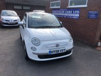 USED 2008 58 FIAT 500 1.2 LOUNGE 3d 69 BHP ONLY 2 OWNERS, FULL LEATHER, BLUE & ME
