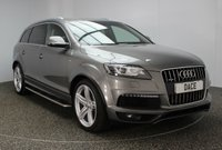USED 2013 63 AUDI Q7 3.0 TDI QUATTRO S LINE PLUS 5DR AUTO 245 BHP 7 SEATS FULL AUDI SERVICE HISTORY + HEATED LEATHER SEATS + 7 SEATS + SATELLITE NAVIGATION + REVERSE CAMERA + PARKING SENSOR + BLUETOOTH + CRUISE CONTROL + CLIMATE CONTROL + XENON HEADLIGHTS + PRIVACY GLASS + ELECTRIC SEATS + SIDE STEPS + MULTI FUNCTION WHEEL + ELECTRIC WINDOWS + DAB RADIO + ELECTRIC MIRRORS + 21 INCH ALLOY WHEELS