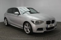 USED 2013 62 BMW 1 SERIES 2.0 120D M SPORT 5DR AUTO 181 BHP FULL SERVICE HISTORY £30 ROAD TAX FULL SERVICE HISTORY + £30 12 MONTHS ROAD TAX + HEATED LEATHER SEATS + PARKING SENSOR + BLUETOOTH + CRUISE CONTROL + CLIMATE CONTROL + MULTI FUNCTION WHEEL + XENON HEADLIGHTS + DAB RADIO + ELECTRIC WINDOWS + ELECTRIC MIRRORS + 18 INCH ALLOY WHEELS