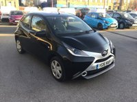 2016 TOYOTA AYGO 1.0 VVT-I X-PLAY 5 DOOR 69 BHP IN BLACK WITH ONLY 30000 MILES IN IMMACULATE CONDITION. £5799.00