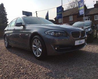2013 BMW 5 SERIES 2.0 520D EFFICIENTDYNAMICS 4d 181 BHP £13295.00