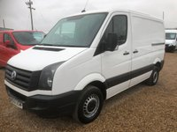 USED 2013 13 VOLKSWAGEN CRAFTER 2.0 CR35 TDI 1d 107 BHP SWB ONE OWNER FROM NEW SERVICE PRINT OUT