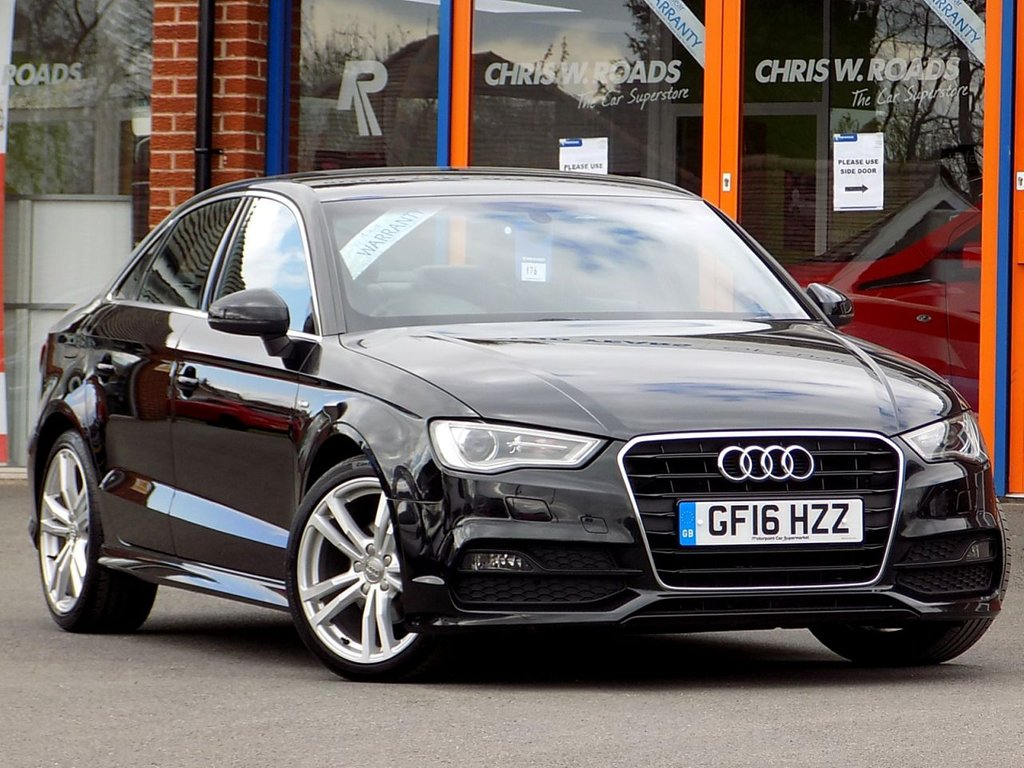 USED 2016 16 AUDI A3 2.0 TDI S Line 4dr (Nav) ** Sat Nav + Half Leather **