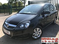 USED 2013 13 VAUXHALL ZAFIRA 1.7 DESIGN NAV CDTI ECOFLEX 5d 108 7 SEATER LOW MILEAGE 7 SEATER. SATELLITE NAVIGATION. STUNNING BLACK MET WITH BLACK CLOTH TRIM. 16 INCH ALLOYS. COLOUR CODED TRIMS. PARKING SENSORS. R/CD PLAYER. 6 SPEED MANUAL. MFSW. MOT 04/20. ONE PREV OWNER. SERVICE HISTORY. SUV & 4X4 CAR CENTRE LS23 7FR. TEL 01937 849492 OPTION 2