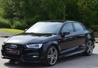 USED 2015 15 AUDI A3 2.0 TDI S LINE 4d 150 BHP.BLACK PACK-SAT NAV ** UPGRADED ALLOY WHEELS ** ** PCP DEALS AVAILABLE**