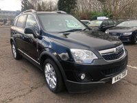 USED 2012 12 VAUXHALL ANTARA 2.2 EXCLUSIV CDTI 4WD S/S 5d 161 BHP 1 PREVIOUS KEEPER *  PRIVACY GLASS *   PARKING AID *  FULL YEAR MOT *  HALF LEATHER *