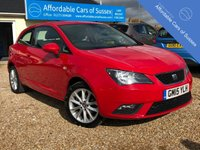 USED 2015 15 SEAT IBIZA 1.4 TOCA 3d 85 BHP Economical Petrol with Sat NAv