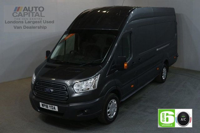 2018 18 FORD TRANSIT 2.0 350 L4 H3 130 BHP TREND EXTRA LWB JUMBO EURO 6 AIR CON AIR CONDITIONING EURO 6 TREND