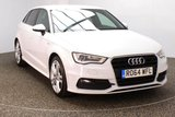 USED 2014 64 AUDI A3 2.0 SPORTBACK TDI S LINE 5DR 182 BHP FULL SERVICE HISTORY 1 OWNER £20 ROAD TAX FULL SERVICE HISTORY + HALF LEATHER SEATS + SATELLITE NAVIGATION + BLUETOOTH + CLIMATE CONTROL + MULTI FUNCTION WHEEL + PRIVACY GLASS + DAB RADIO + XENON HEADLIGHTS + ELECTRIC WINDOWS + ELECTRIC MIRRORS + 18 INCH ALLOY WHEELS