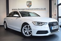 USED 2014 14 AUDI A6 2.0 TDI BLACK EDITION 4DR AUTO 175 BHP full audi service history *NO ADMIN FEES* FINISHED IN STUNNING GLACIER WHITE WITH FULL BLACK LEATHER INTERIOR + FULL AUDI SERVICE HISTORY + SATELLITE NAVIGATION + BLUETOOTH + CRUISE CONTROL + REVERSE CAMERA + HEATED FRONT/REAR SEATS + AUTO STOP/START + PARKING SENSORS + HEATED ELECTRIC MIRRORS + DAB RADIO + 18 INCH ALLOY WHEELS