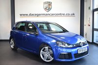 """USED 2010 59 VOLKSWAGEN GOLF 2.0 R DSG 5DR AUTO 270 BHP full vw service history  *NO ADMIN FEES* FINISHED IN STUNNING BLUE WITH HALF SUEDE UPHOLSTERY + FULL VW SERVICE HISTORY + SATELLITE NAVIGATION + SPORT SEATS + HEATED MIRRORS + AIR CONDITIONING + FOG LIGHTS + AUXILIARY PORT + PARKING SENSORS + 18"""" ALLOY WHEELS"""