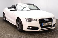 USED 2012 62 AUDI A5 1.8 TFSI S LINE S/S 2DR 170 BHP FULL SERVICE HISTORY FULL SERVICE HISTORY + HEATED LEATHER SEATS + PARKING SENSOR + BLUETOOTH + CLIMATE CONTROL + XENON HEADLIGHTS + DAB RADIO + MULTI FUNCTION WHEEL + ELECTRIC WINDOWS + ELECTRIC MIRRORS + 16 INCH ALLOY WHEELS