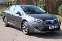 2014 TOYOTA AVENSIS 1.8 VALVEMATIC ICON 4d AUTO 147 BHP £11495.00