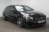 USED 2015 65 MERCEDES-BENZ CLA 2.0 CLA250 4MATIC ENGINEERED BY AMG 5DR AUTO 208 BHP PAN ROOF SERVICE HISTORY + HEATED LEATHER SEATS + SATELLITE NAVIGATION + ACTIVE PARK ASSIST + PANORAMIC ROOF + BLUETOOTH + CRUISE CONTROL + CLIMATE CONTROL + XENON HEADLIGHTS + MULTI FUNCTION WHEEL + 19 INCH ALLOY WHEELS