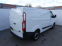 USED 2017 66 FORD TRANSIT CUSTOM 2.0 290 LR P/V 1d 104 BHP FORD TRANSIT CUSTOM EURO 6 PLY LINED ULEZ COMPLIANT