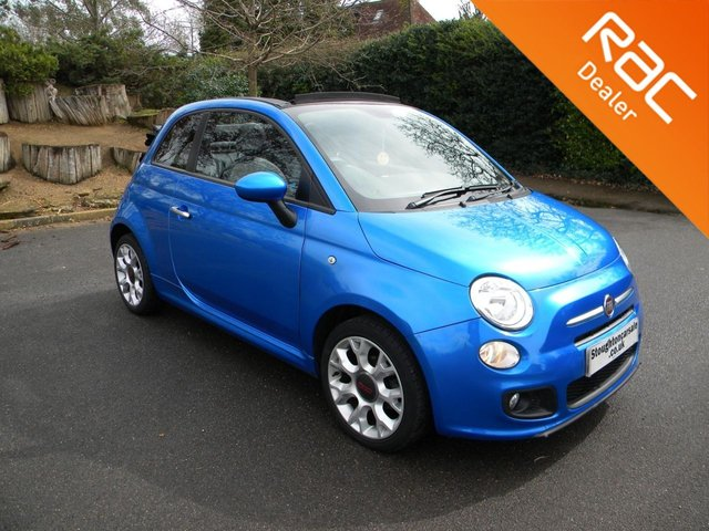 USED 2014 14 FIAT 500 1.2 C S 3d 69 BHP Get Ready For Summer!!    Half Leather, Soft Top Convertible, Alloy Wheels, Bluetooth