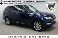 "USED 2014 63 LAND ROVER RANGE ROVER SPORT 3.0 SDV6 HSE 5d AUTO 288 BHP Finished in stunning Loire Blue Metallic with Brown Leather Seats, 20"" Alloy Wheels, Parking Sensors, Reversing Camera, Xenon Headlights and Full Land Rover Service History. Upon opening the drivers door you are presented with Satellite Navigation, Electric Seats, Memory Seats, Heated Seats, Bluetooth, DAB Radio, Stop/Start Function, Air Conditioning, Multi Function Wheel, Cruise Control, Electric Boot, Heated Windscreen"