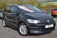USED 2017 17 VOLKSWAGEN TOURAN 2.0 SE TDI BLUEMOTION TECHNOLOGY DSG 5d AUTO 148 BHP FULL VW SERVICE RECORDS ~ POWER TAILGATE ~ 7 SEATS ~ SELF PARK
