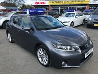 2012 LEXUS CT 1.8 200H SE-I 5d AUTO 136 BHP IN METALLIC GREY WITH 83,000 MILES WITH FULL LEXUS SERVICE HISTORY. £8799.00