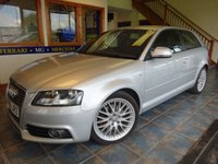 USED 2009 09 AUDI A3 2.0 TDI S LINE 3d AUTO 168 BHP SUPERB EXAMPLE, S LINE TRIM!