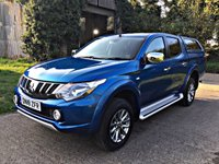 USED 2018 18 MITSUBISHI L200 2.4 DI-D 4WD TITAN DCB 1d 178 BHP LONG MITSUBISHI WARRANTY, LIGHT USE ONLY,