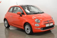 USED 2017 67 FIAT 500 1.2 LOUNGE 3d 69 BHP RARE PINK COLOUR + ONLY 11K MILES + PAN ROOF