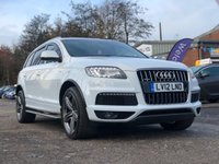 USED 2012 12 AUDI Q7 3.0 TDI QUATTRO S LINE PLUS 5d AUTO 245 BHP NAVIGATION SYSTEM *  FULL LEATHER *  BLUETOOTH *  REVERSING CAMERA *  PRIVACY GLASS *  DAB RADIO *