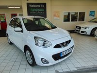USED 2015 65 NISSAN MICRA 1.2 ACENTA 5d AUTO 79 BHP FULL SERVICE HISTORY + BLUETOOTH + CRUISE CONTROL + CLIMATE CONTROL + ALLOYS + CD RADIO + SPARE WHEEL + REMOTE LOCKING + ELECTRIC FRONT WINDOWS