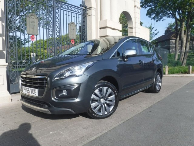 USED 2015 65 PEUGEOT 3008 1.6 HDI ACTIVE 5d 115 BHP ****FINANCE ARRANGED****PART EXCHANGE WELCOME***2KEYS*CRUISE*REAR PS*AUTO LIGHTS/WIPERS*BTOOTH*AUX*USB*ALLOYS