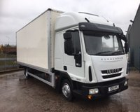 USED 2013 13 IVECO EUROCARGO IVECO EUROCARGO 75E 7.5 TONNE, 22FT BOX WITH HIGH ROOF SLEEPER CAB