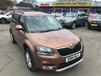 2014 SKODA YETI 1.2 SE TSI DSG 5 DOOR AUTOMATIC 103 BHP IN METALLIC BRONZE WITH ONLY 24,000 MILES £9299.00