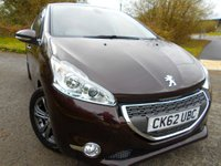 USED 2012 62 PEUGEOT 208 1.6 ALLURE E-HDI 5d 92 BHP ** DIESEL, £ ZERO ROAD TAX, FULL BLACK HEATED LEATHER SEATS, ALLOYS, PRIVACY GLASS, SATNAV WITH BLUETOOTH, SUPERB VEHICLE **