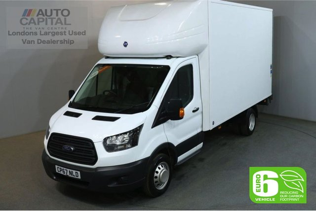 2018 67 FORD TRANSIT 2.0 350 129 BHP LWB EURO 6 TWIN WHEEL WITH TAIL LIFT LUTON VAN REAR BOX LENGTH 13 FOOT